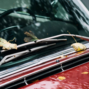 Image of dirty windshield wipers.